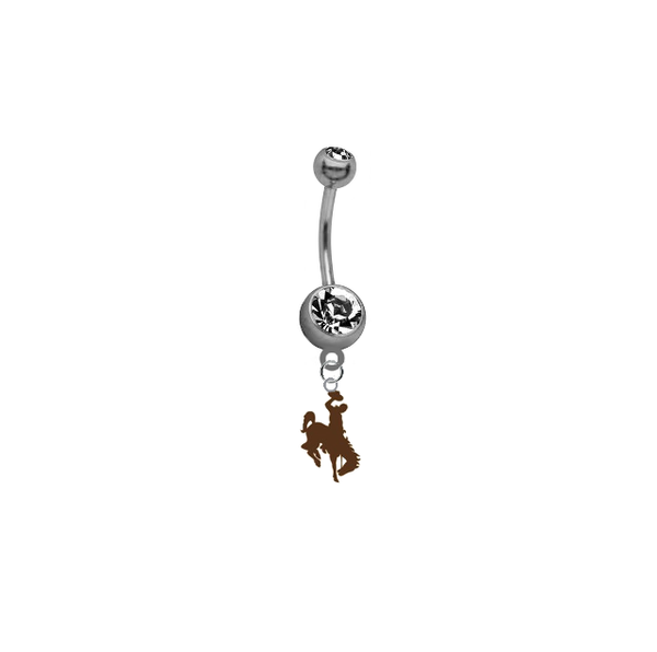 Wyoming Cowboys NCAA College Belly Button Navel Ring