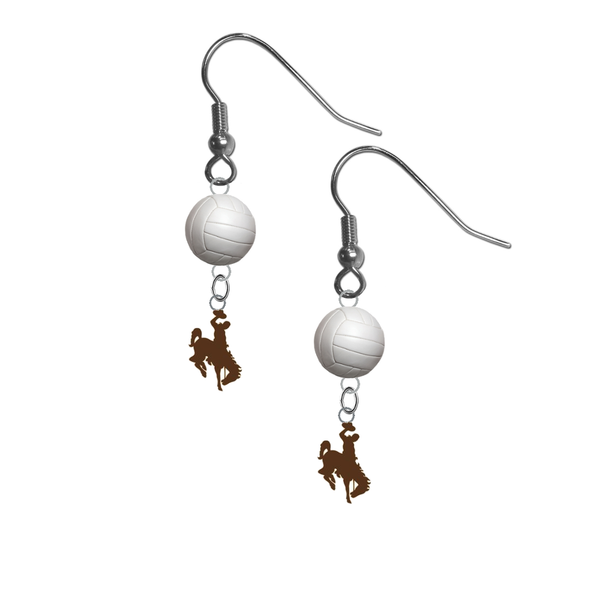 Wyoming Cowboys NCAA Volleyball Dangle Earrings
