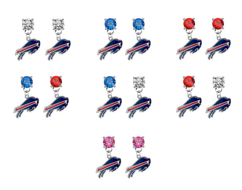 Buffalo Bills NFL Swarovski Crystal Stud Rhinestone Earrings