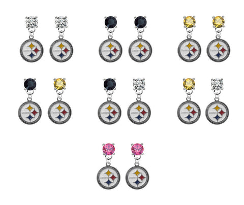 Pittsburgh Steelers NFL Swarovski Crystal Stud Rhinestone Earrings