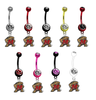 Maryland Terrapins NCAA College Belly Button Navel Ring - Pick Your Color