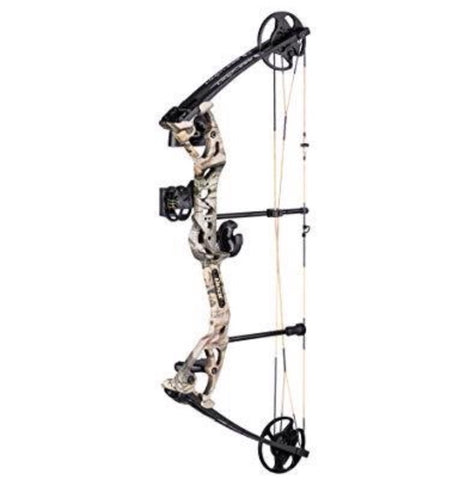 "BEAR LIMITLESS RTH COMPOUND BOW 25-50# 19-29"" RH CAMO"
