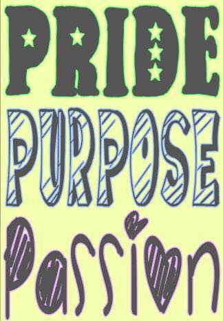 Pride Purpose Passion Wall Decal