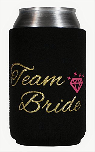 Party Pack Team Bride Bachelorette Stubby Can Koozie Set