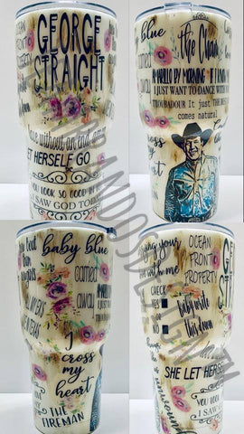 Custom Artist Fan Tumbler Cup- MESSAGE US WITH YOUR ARTIST REQUEST