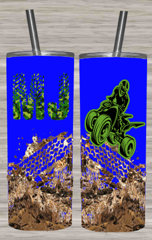 4 Wheeler Camo Mudding Stainless Steel Tumbler