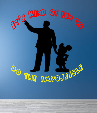 Disney Inspired Walt & Mickey Impossible Wall Decal