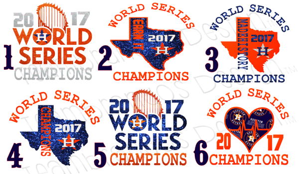 2017 ASTROS WORLD SERIES CHAMPIONS BLUE GLITTER