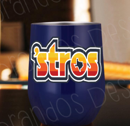 Retro Astros Inspired Stainless Tumbler