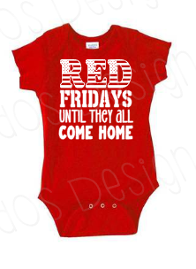 Red Friday Every Friday Onsie