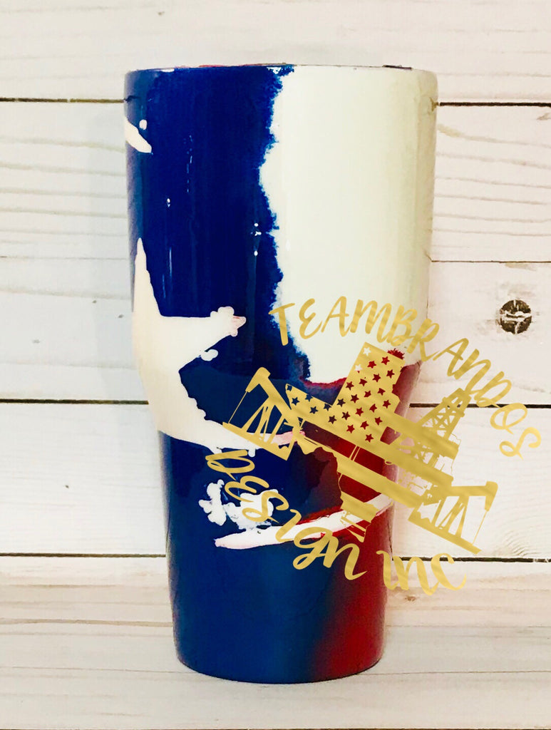 Distressed Texas Flag Stainless Steel Tumbler