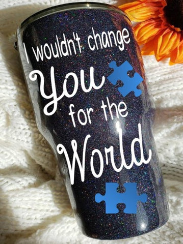 Autism Awareness Puzzle Piece Stainless Steel Tumblers