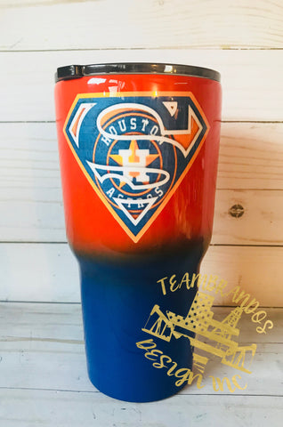 Superman Astro Inspired Stainless Steel tumbler