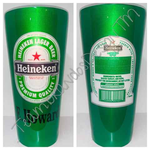 Heiney Beer Inspired Stainless Steel tumbler