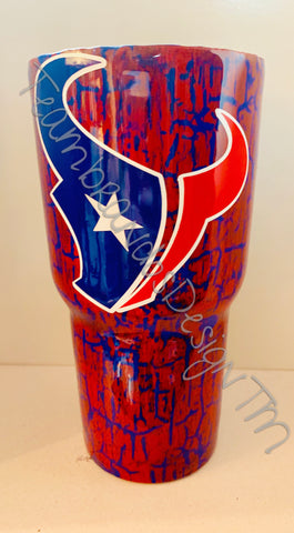 CRACKLE TEXANS Inspired Tumbler
