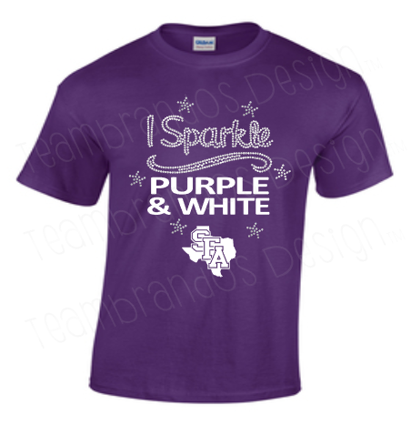 SFA I Sparkle Purple and White