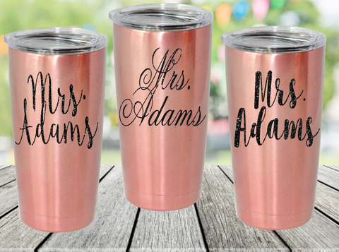 Personalized Name Stainless Steel Tumblers