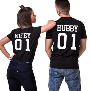 """Wifey And Hubby Tee"" - I Love Quilting Store"