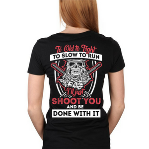 I'll Just Shoot You - Back Print - I Love Quilting Store