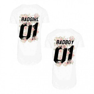 BAD GIRL AND THE  BAD BOY Tees - I Love Quilting Store