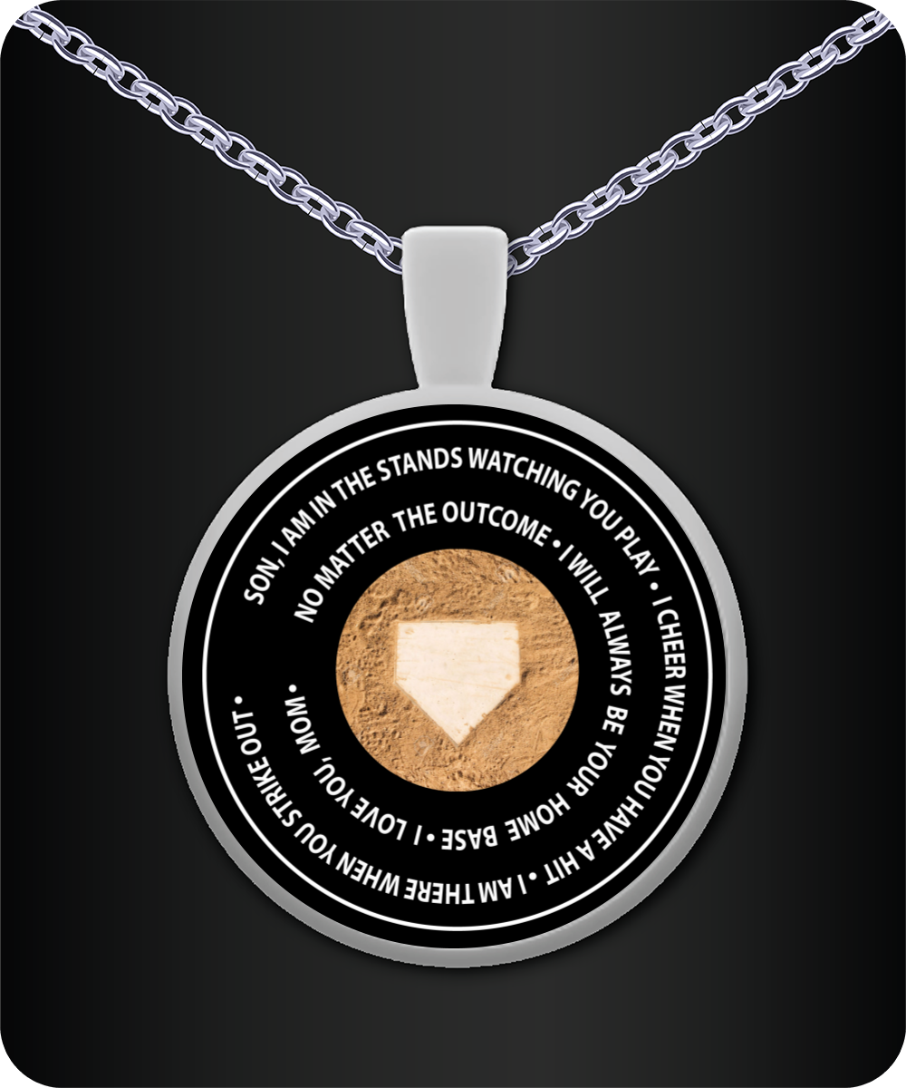 Home Base, Love Mom Necklace - I Love Quilting Store