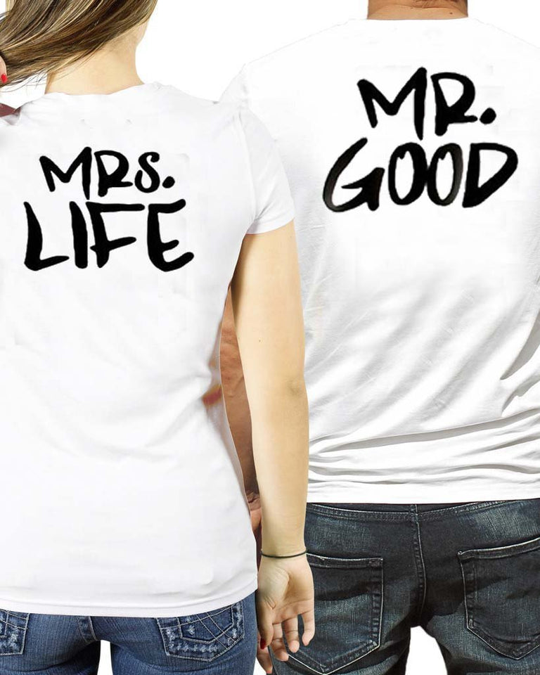 """Mr. Good & Mrs. Life T Shirt"" - I Love Quilting Store"