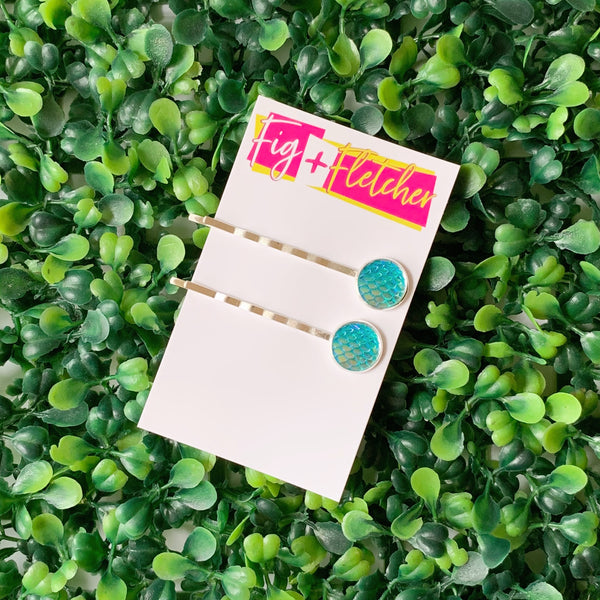 Mermaid Bobby Pins ~ choose colour
