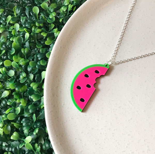 Watermelon Necklace ~ choose colour