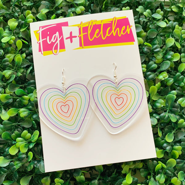Rainbow Heart Dangles
