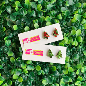 Luxe Christmas Tree Studs ~ choose colour