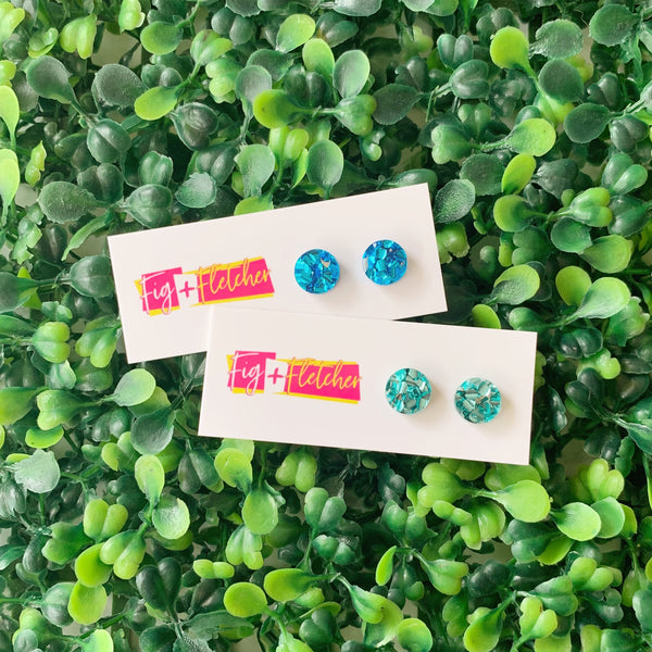Luxe Dot Studs ~ choose colour