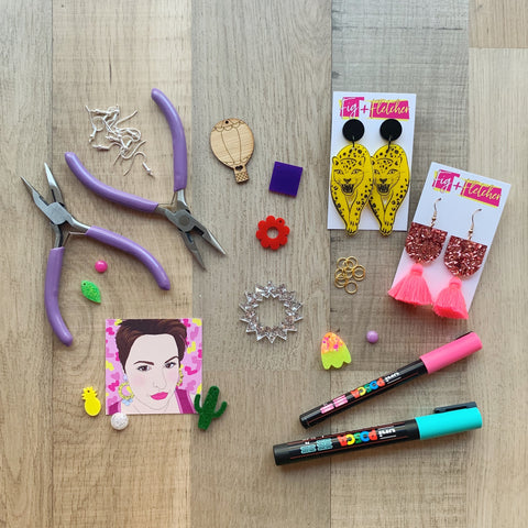 Acrylic Jewellery Making Workshop ~ 23rd August 2020 at 11am