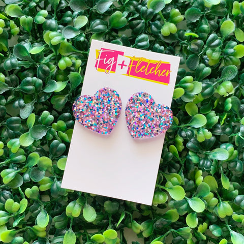 Resin Sweetheart Studs #1