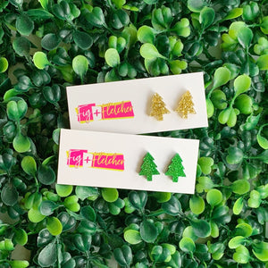 Christmas Tree Studs ~ choose colour