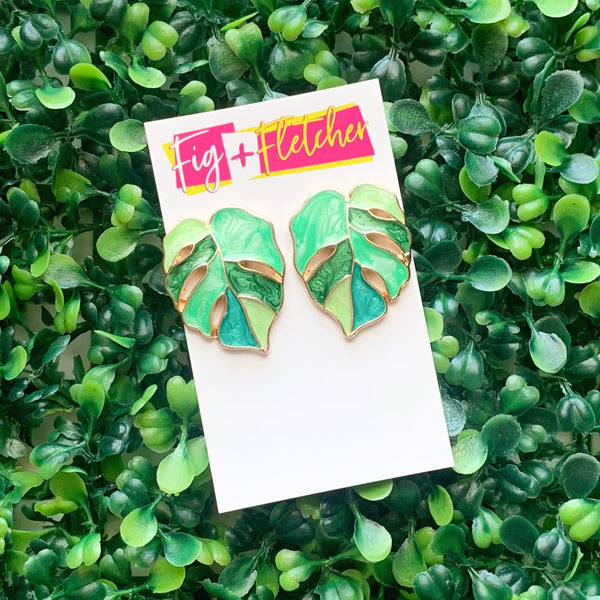 Leaf Studs ~ choose colour