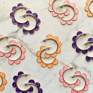 Flower Hoops ~ choose colour