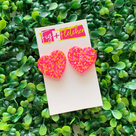 Resin Sweetheart Studs #3