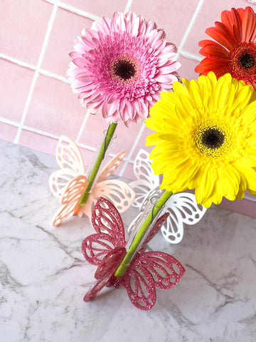 Butterfly Stem Vase ~ choose colour