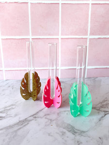 Monstera Stem Vase ~ choose colour
