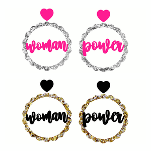 Woman Power Dangles ~ choose colour