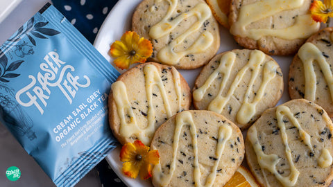 Cream Earl Grey organic Cookies