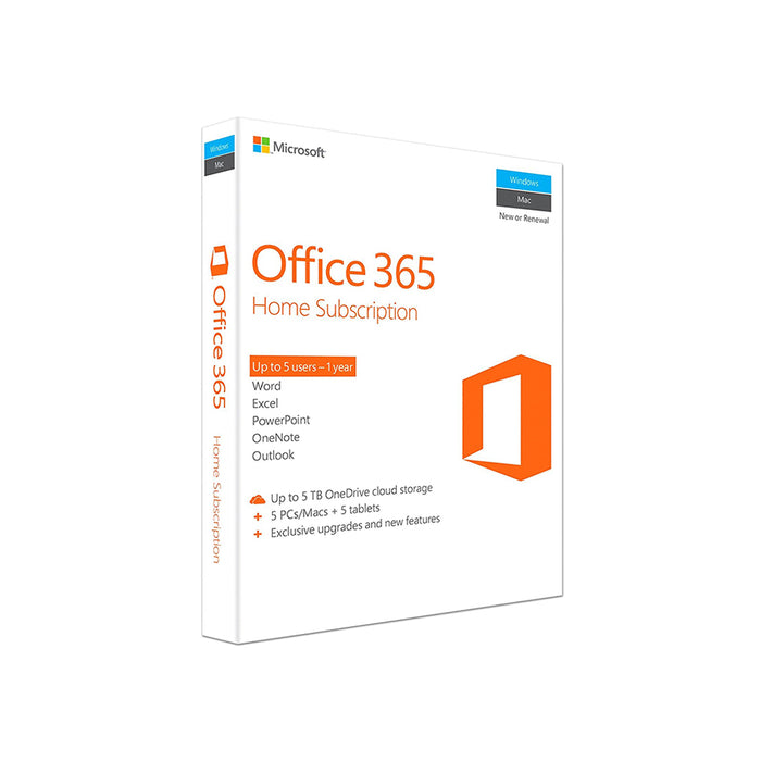 Microsoft Office 365 Home (1 User, 1 Year)
