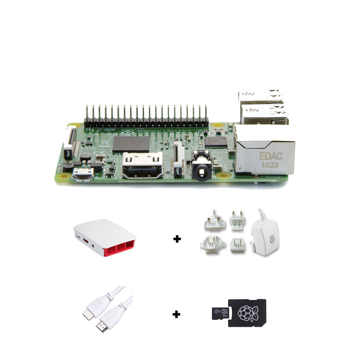 Raspberry Pi 3 Basic Kit (White)