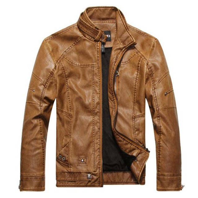 STOCKHOLM Leather Jacket Men
