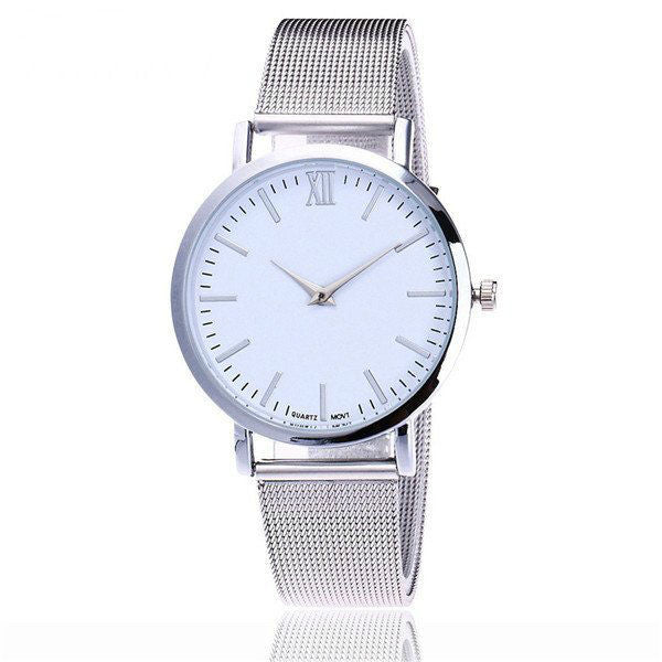 Minuit Mesh Watch Gold/White/Silver