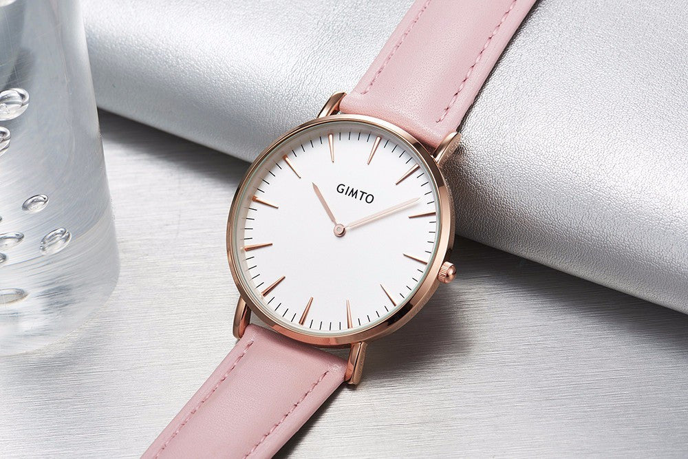 Belle Rêveries Leather Band  Watch