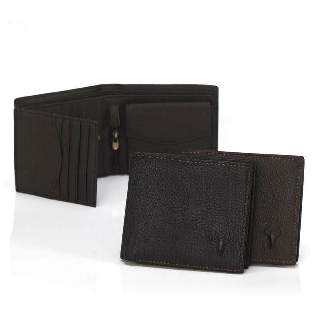 Black Bull Genuine Leather Wallet