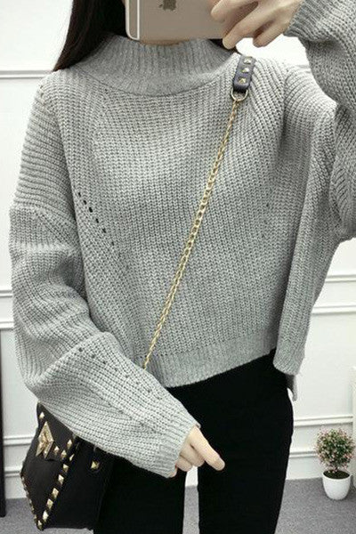 A polo neck sweater