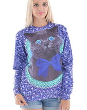 Dazzling Cat Graphic Sweatshirt