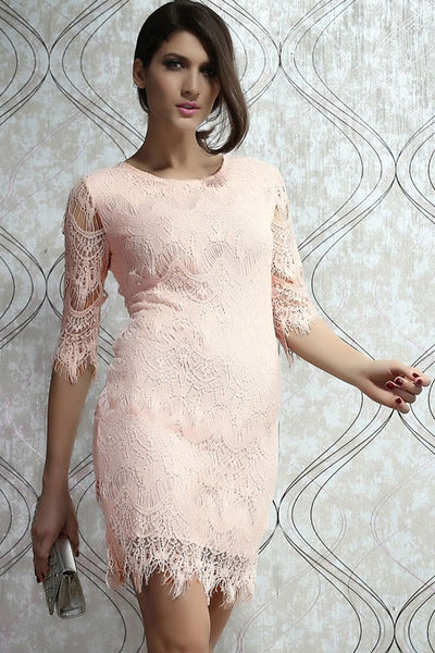 Allover LaceHalf Sleeves Dress